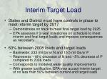 interim target load