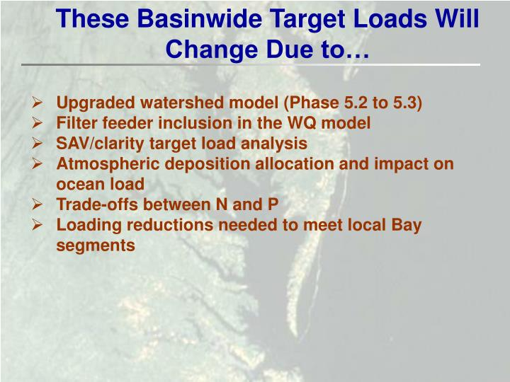 These Basinwide Target Loads Will Change Due to…