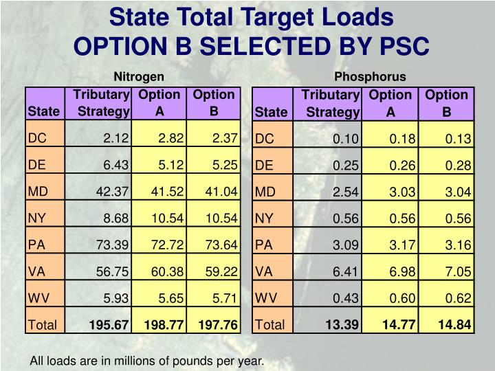 State Total Target Loads