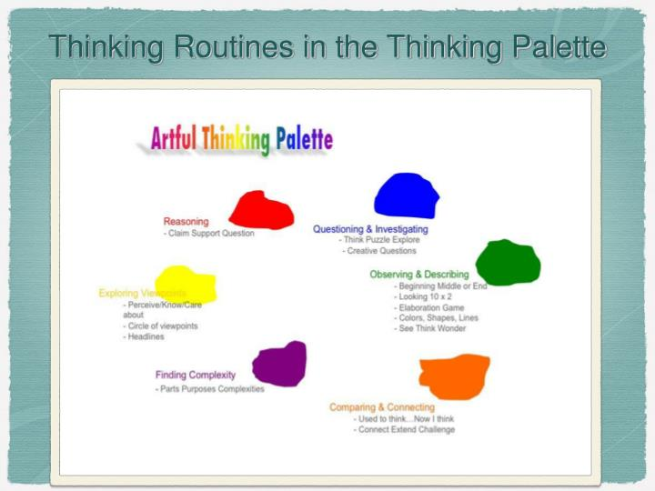 Thinking Routines in the Thinking Palette