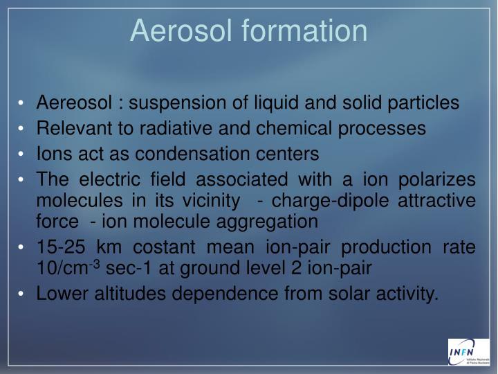 Aerosol formation