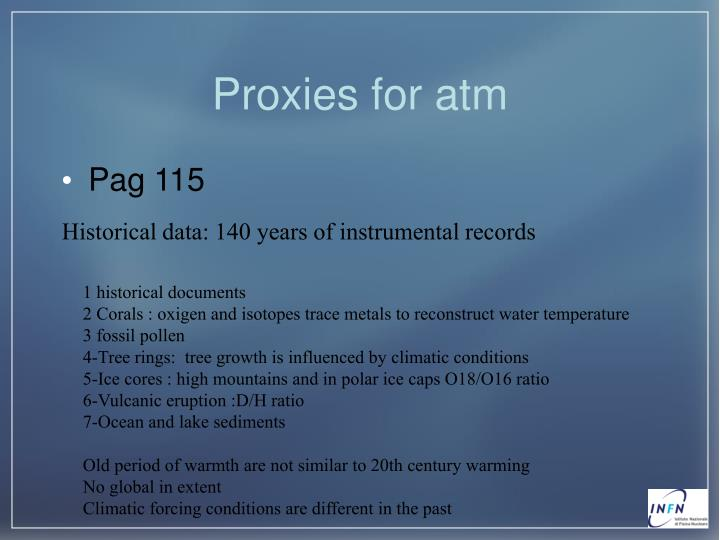 Proxies for atm