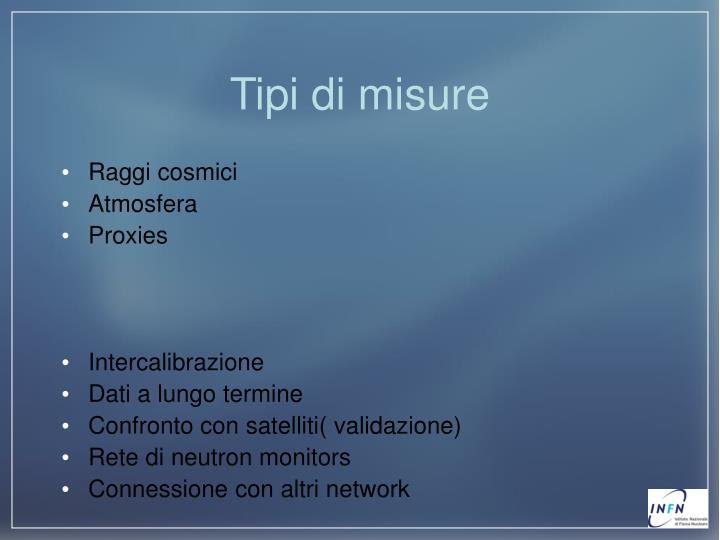 Tipi di misure