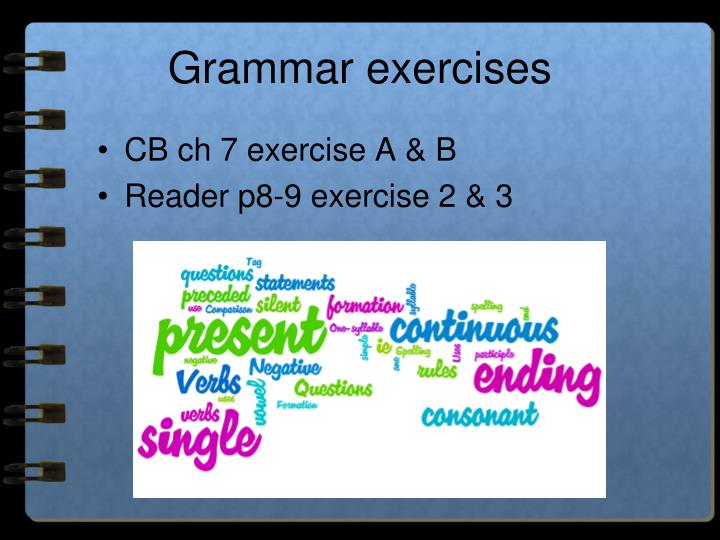 Grammar exercises