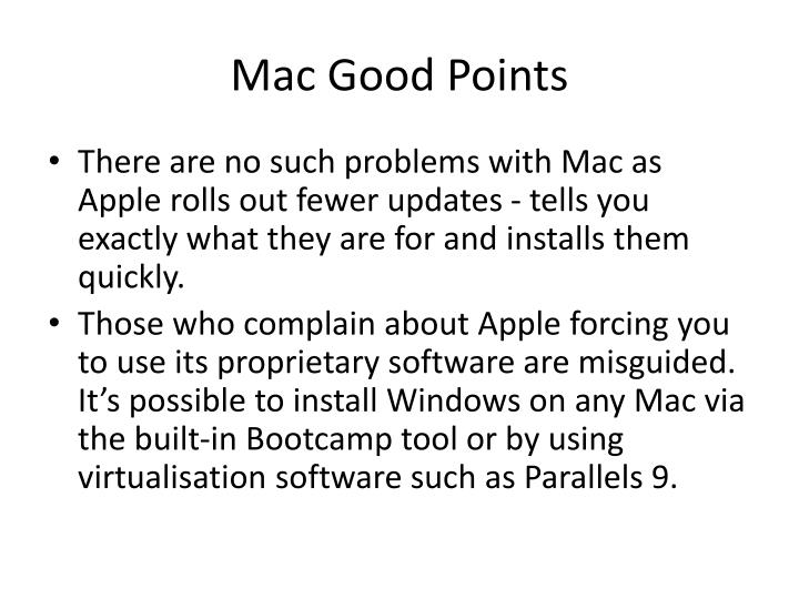 Mac Good Points