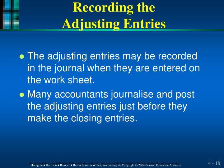 Recording the