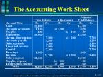 the accounting work sheet3