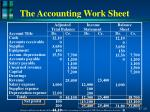 the accounting work sheet6