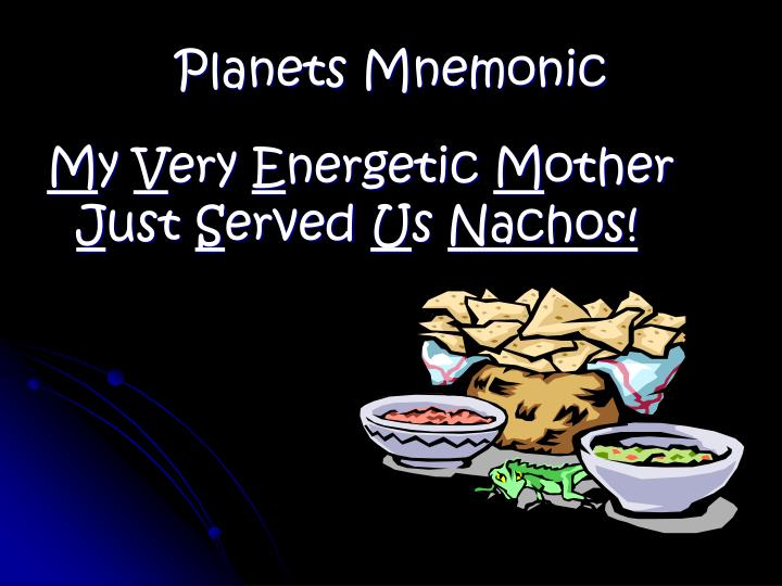 Planets Mnemonic