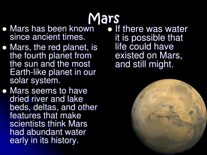 Mars has been known since ancient times.