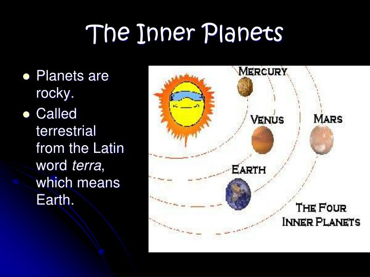 Planets are rocky.