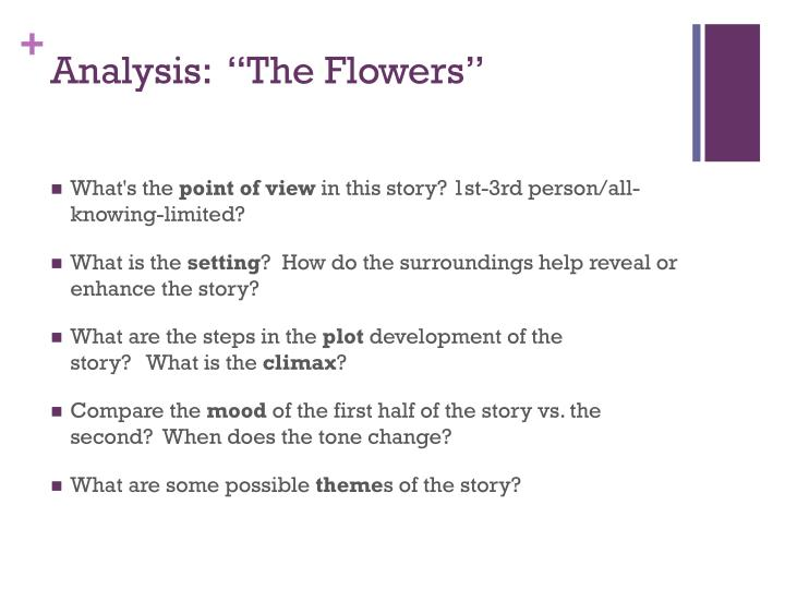 "Analysis:  ""The Flowers"""