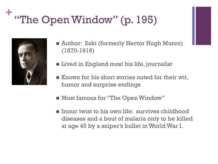 """""""The Open Window"""" ("""