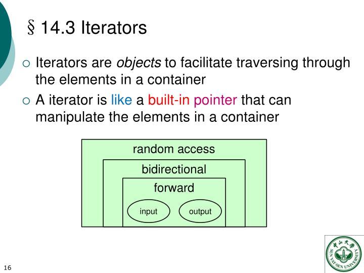 §14.3 Iterators
