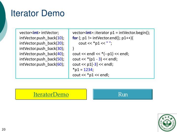 Iterator Demo