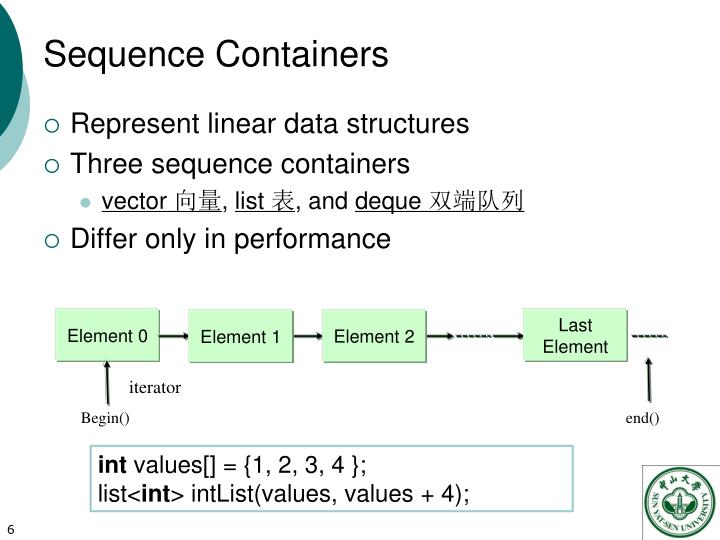 Sequence Containers