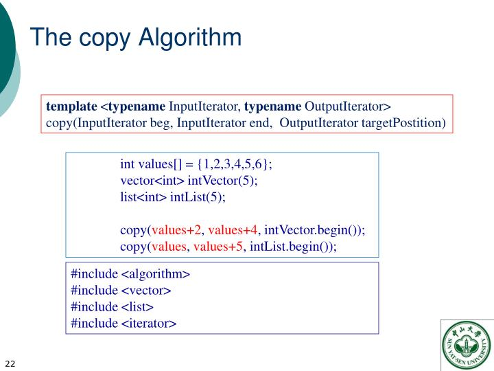 The copy Algorithm