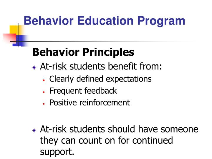 Behavior Education Program