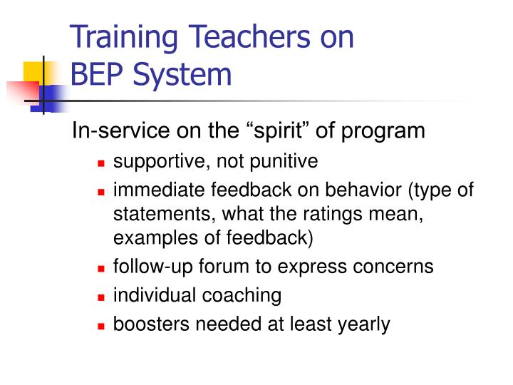 Training Teachers on
