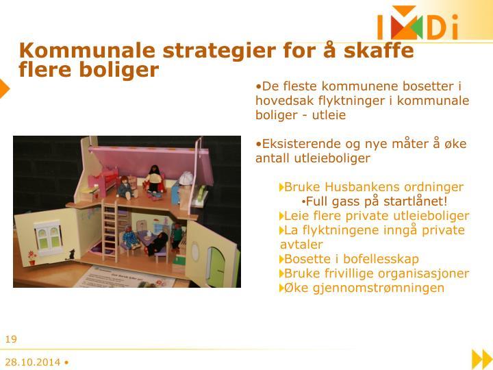 Kommunale strategier for å skaffe flere boliger