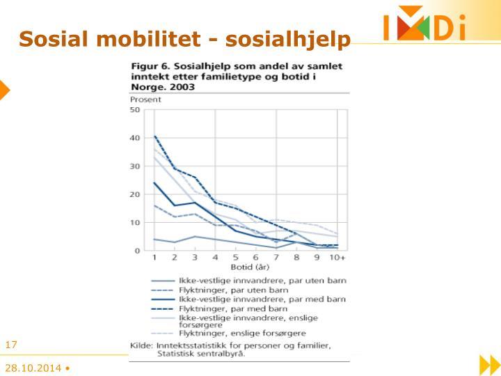 Sosial mobilitet - sosialhjelp