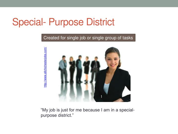 Special- Purpose District