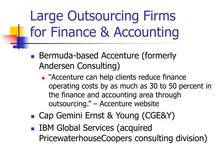 Large Outsourcing Firms