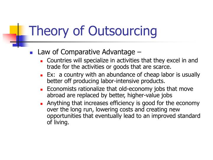 Theory of Outsourcing
