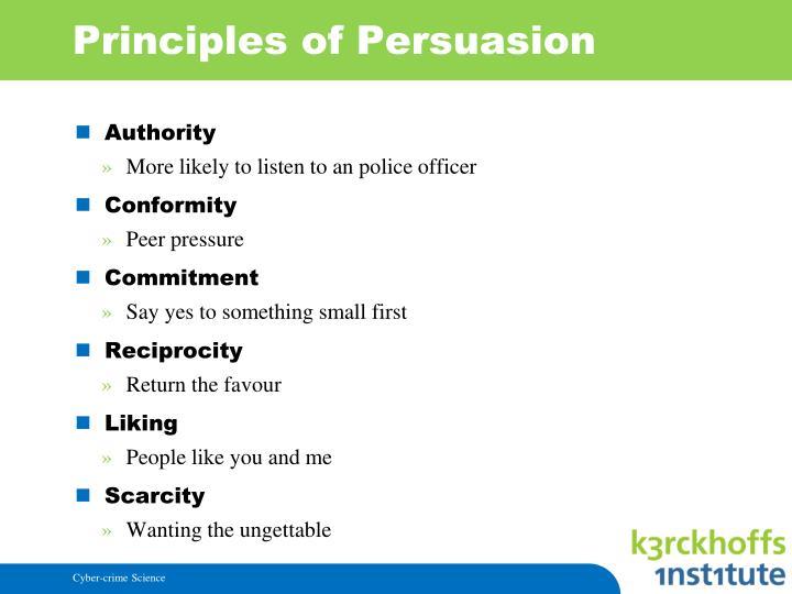 Principles of Persuasion