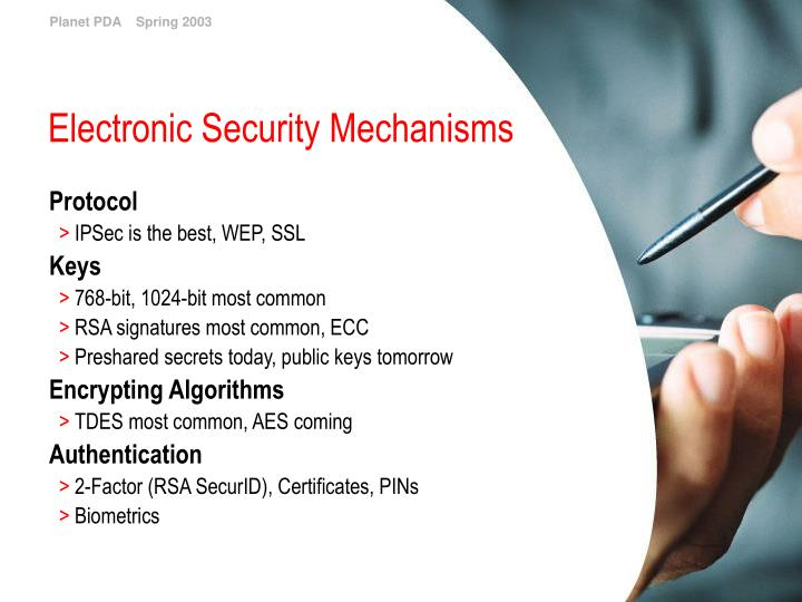 Electronic Security Mechanisms