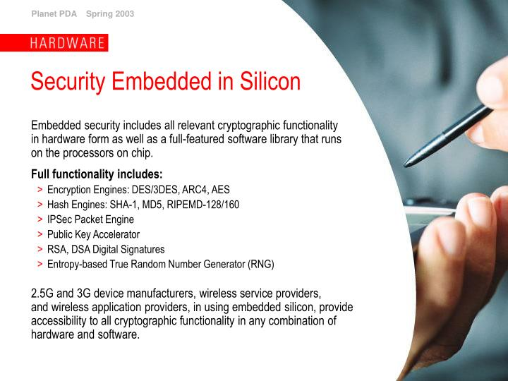 Security Embedded in Silicon