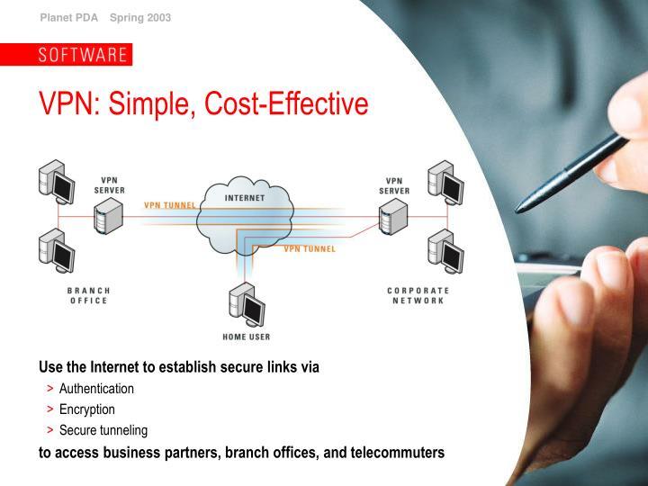 VPN: Simple, Cost-Effective