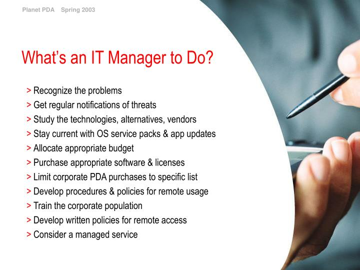 What's an IT Manager to Do?