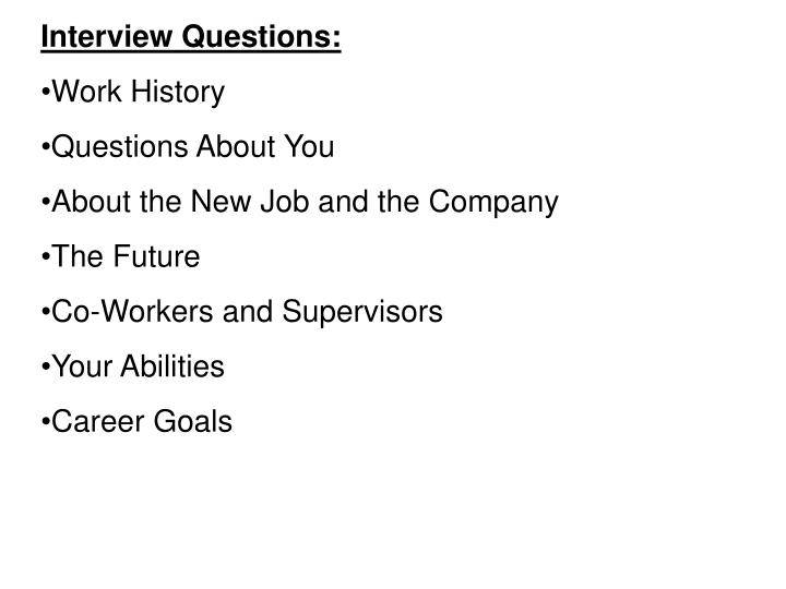Interview Questions: