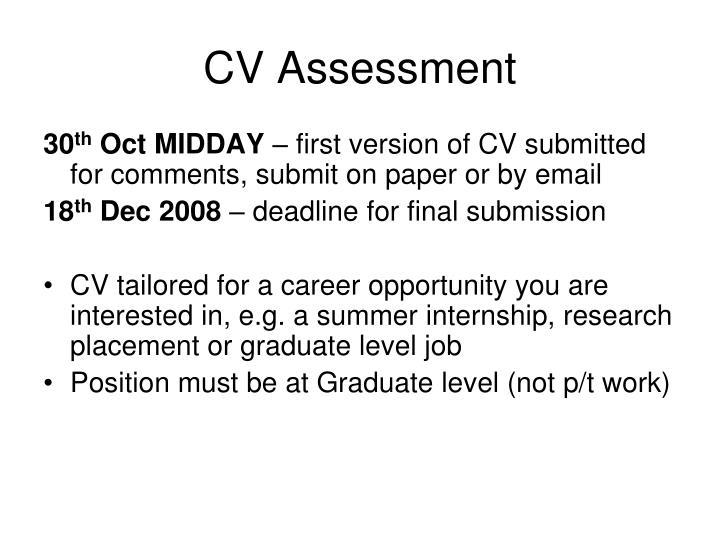 CV Assessment