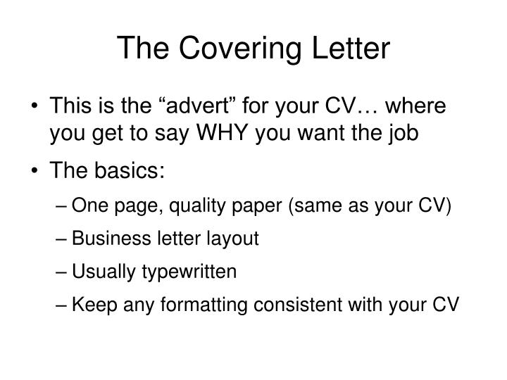 The Covering Letter