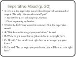imperative mood p 30