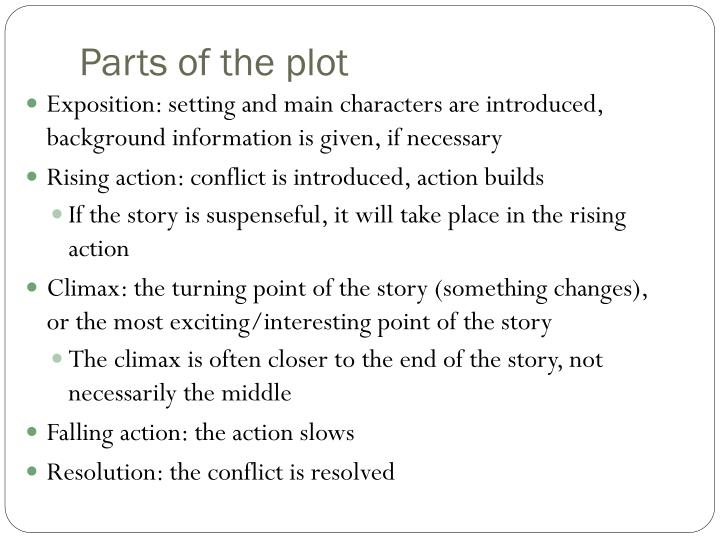 Parts of the plot