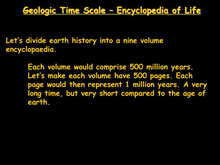 Geologic Time Scale – Encyclopedia of Life