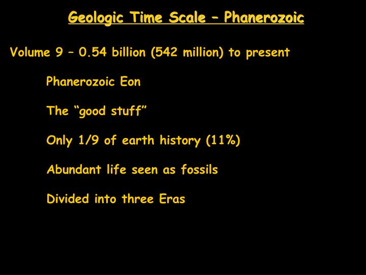 Geologic Time Scale – Phanerozoic
