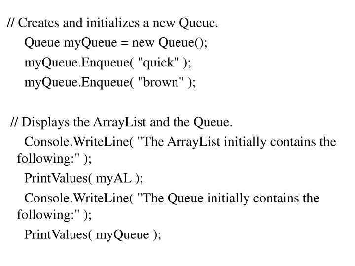 // Creates and initializes a new Queue.