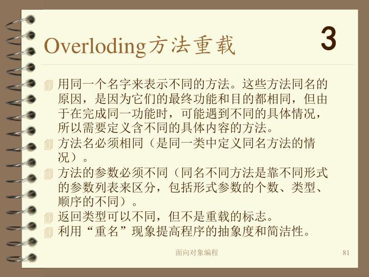 Overloding