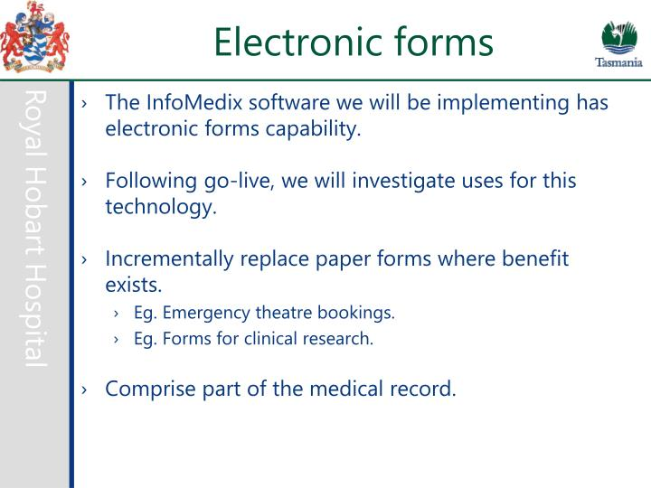 Electronic forms