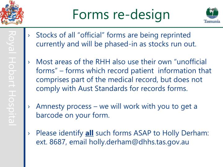 Forms re-design