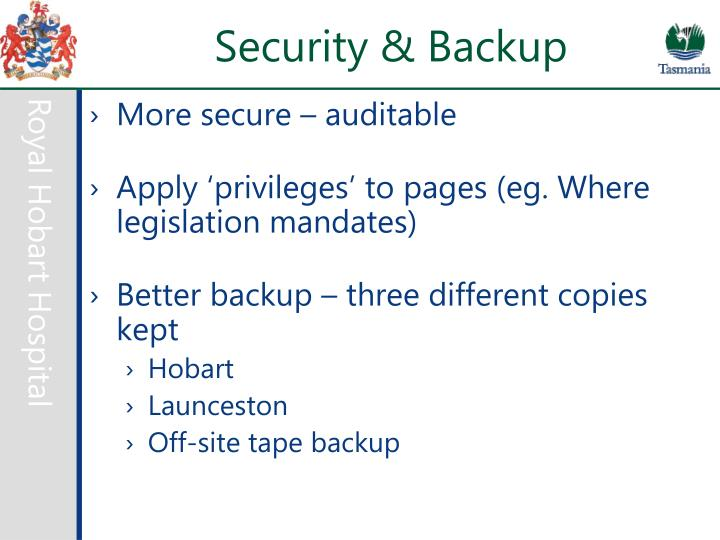Security & Backup