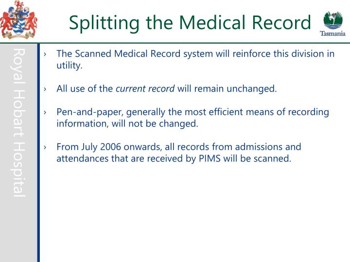 Splitting the Medical Record