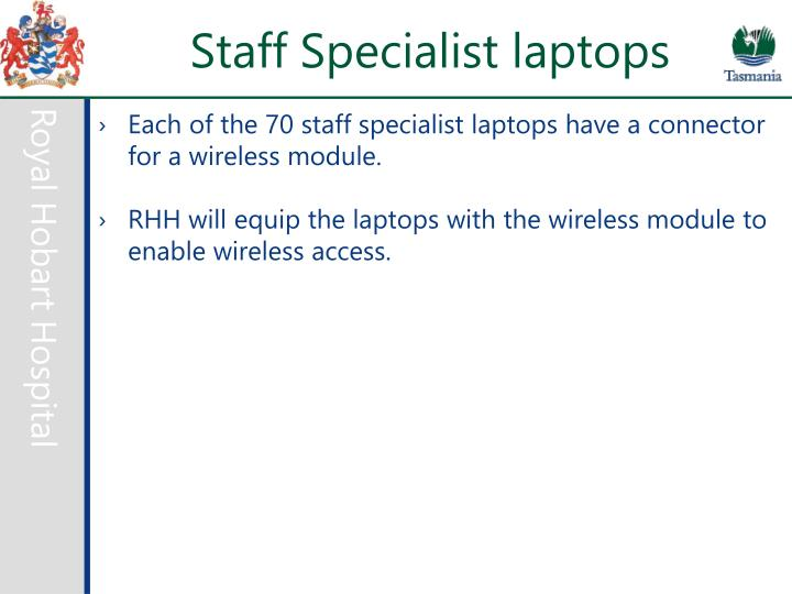 Staff Specialist laptops