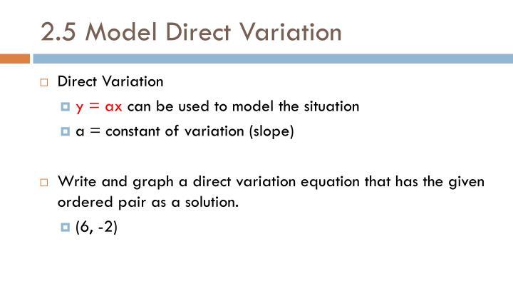 2.5 Model Direct Variation
