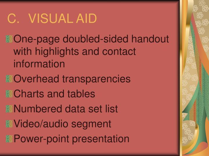 C.VISUAL AID