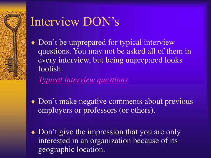 Interview DON's